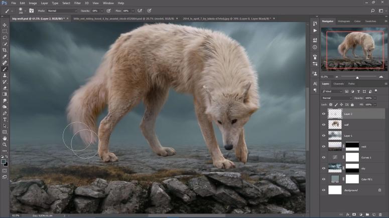 Fog wolf